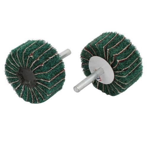 Various Size Nylon Abrasive Scouring Grinding Polishing Flap Wheel 6mm Dia Shank