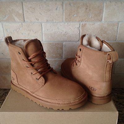3bed369e0ed UGG Harkley Chestnut Suede Sheepskin Chukka Boots Shoes Size US 11 Mens NIB  | eBay