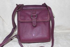 Fossil-leather-womens-Purple-Shoulder-Bag