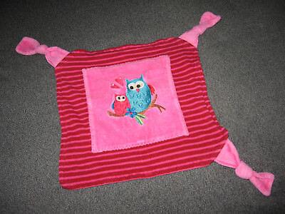 Baby Spielzeug Eule Uhu Pink Rosa Türkis Handmade Schmusetuch Schnuffeltuch Kuscheltuch # 6 Dauerhafte Modellierung