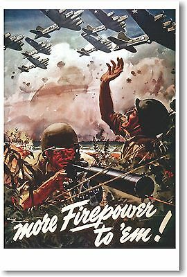 More Firepower To Em - NEW Vintage Reprint POSTER
