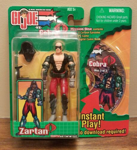 GI JOE ZARTAN FIGURE 2002 G.I. JOE HASBRO 3.75IN ARAH V4 NEW MINT MOC