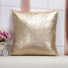 Susenstone®Solid Color Glitter Pailletten Dekokissen Fall GOLD  40cm*40cm