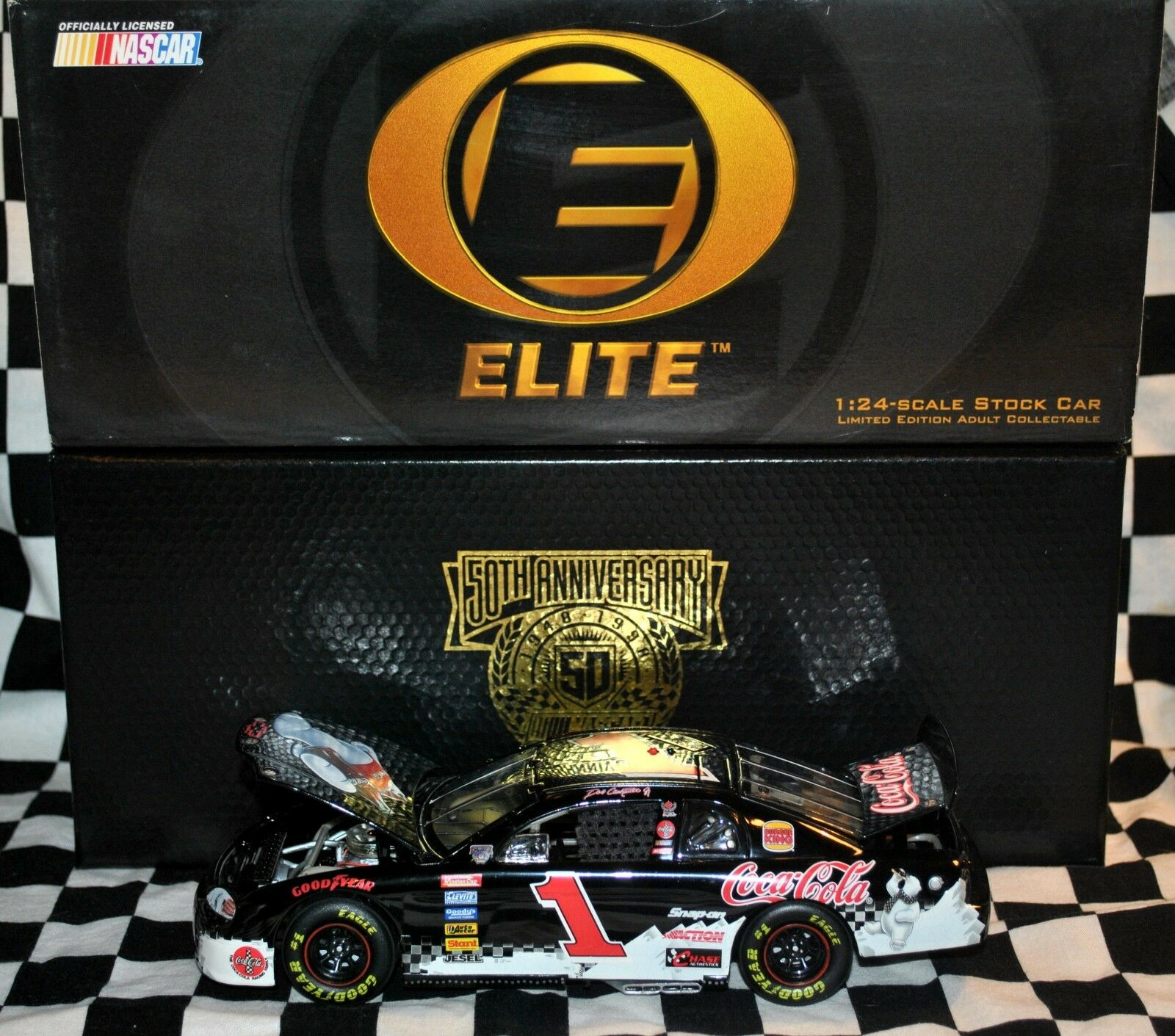 RARE  DALE EARNHARDT 1998 POLAR BEAR 1 24 DIE CAST NASCAR ELITE COMPLETE NEW