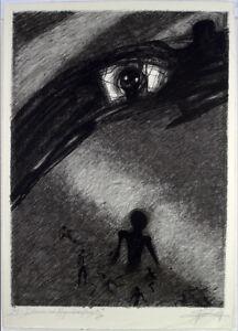 DDR-Kunst-1978-Grosse-Zinkographie-Gregor-Torsten-KOZIK-1948-D-handsigniert