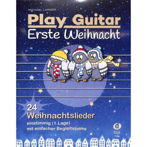mit Texten und Akkorden Play Guitar Erste Weihnacht