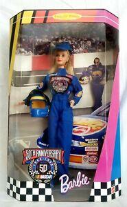 NASCAR-50TH-ANNIVERSARY1998-BARBIE-DOLL-NRFB-NEW-MATTEL