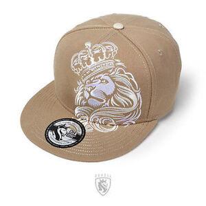 3bb1011f1a9 OGABEL Og Abel Lion Crown Khaki Tattoo Punk Ink Fierce Snapback Hat ...