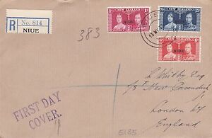 1937 NIUE George VI CORONATION Stamps FIRST DAY COVER Ref:981