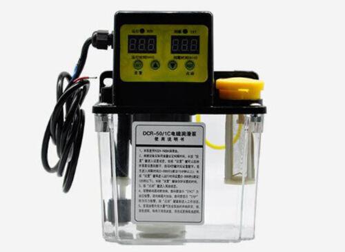 Nuevo 110V 1L doble pantalla digital automático Lubrication bomba Engrasador NC bomba 4mm