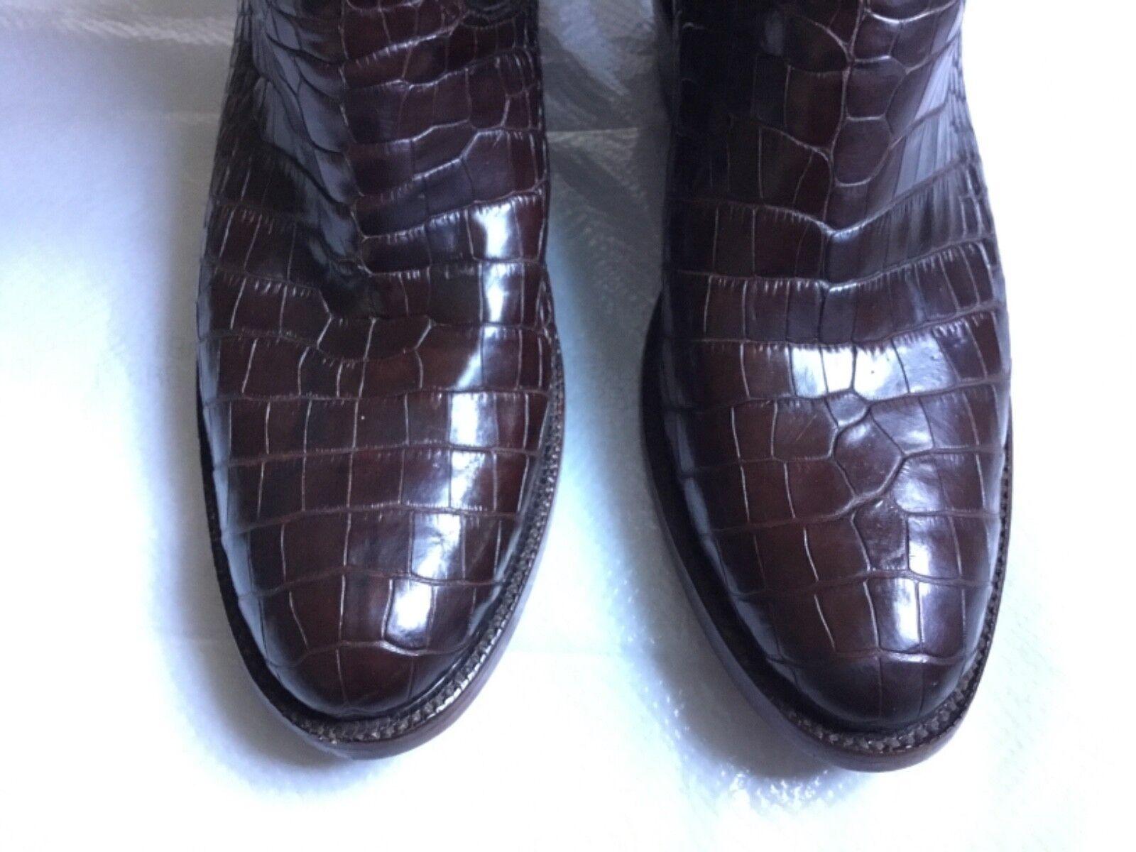 negro Jack botas Estilo Nº 188  Marrón Cepillo De Cabra Cocodrilo vientre occidental