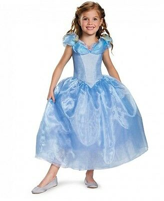 Cinderella Movie Deluxe Girls Dress Costume, Disguise, NICE! New Multiple Sizes
