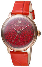 Swarovski Women s Crystalline Hours 38mm Red Leather Band Quartz Watch  5295380 0a85863f665