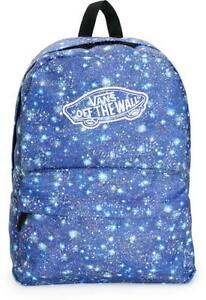 Vans-Realm-Galaxy-Satellite-Blue-Backpack-Book-Travel-Gym-Bag-New