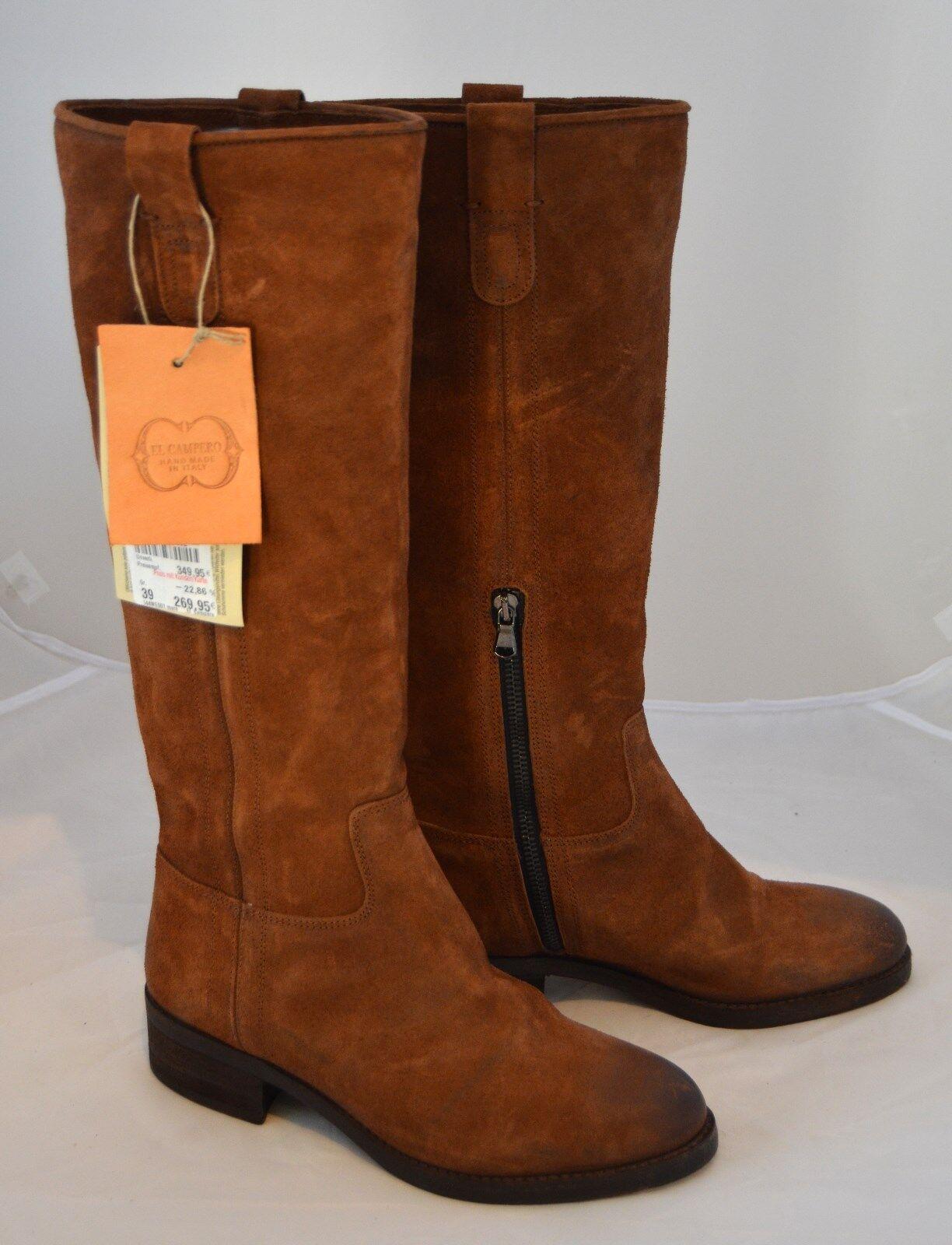 El campero botas made in cuero italy % Braun cuero in 349 euro cosidos c4bb74
