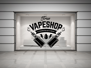 Details about Vape Shop E-cig Vaping sign Wall/Window decal sticker art   Any colour/size