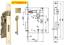 Serratura D 70 bordo quadro per porte interne finitura ottonata entrata 45 50