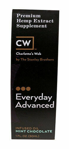 Charlotte's Web CW Everyday Advanced Hemp Extract Oil 5000 MG Chocolate MCT  30ml