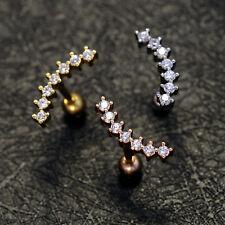 b9a91b889 item 3 Opal Crystal Stud Ring Bar Ear Climber Earrings Cartilage Helix  Tragus Piercing -Opal Crystal Stud Ring Bar Ear Climber Earrings Cartilage  Helix ...