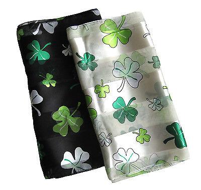 Shamrock St Patricks Day Scarf Big Small Mix Shamrock print scarf Kongle