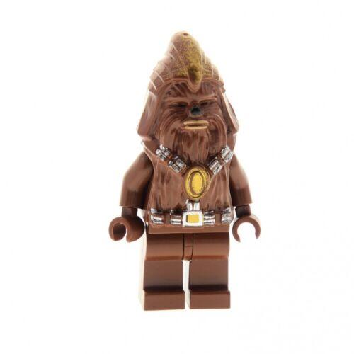 1x Lego Figur Star Wars Wookiee Warrior Krieger rot braun 7258 7260 sw132