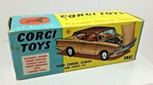 VINTAGE Corgi Toys n. 234 Ford Consul Classic originale scatola vuota