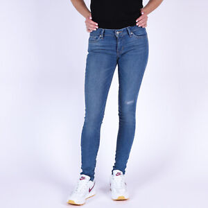 Levi-039-s-711-Skinny-Damen-Blau-Jeans-DE-36-US-W28-L32