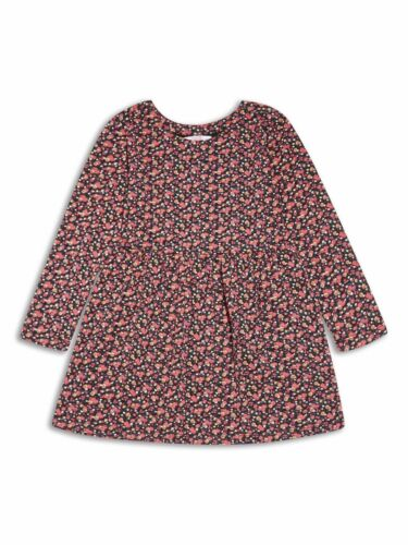 Girls long sleeved red flower floral dress age 2//3 3//4 4//5 5//6 6//7 7//8 yrs