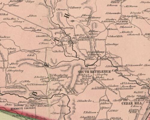 1854 Map of Albany County NY from actual surveys Albany