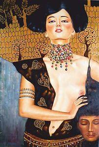 Klimt-Judith-Keilrahmenbild-auf-Leinwand