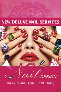 Nail Art Salon Display Pedicure Manicure Beauty Store Paper Poster