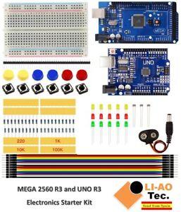 Uno R3 Starter Kit Mini Breadboard Led Jumper Wire Button Active Components