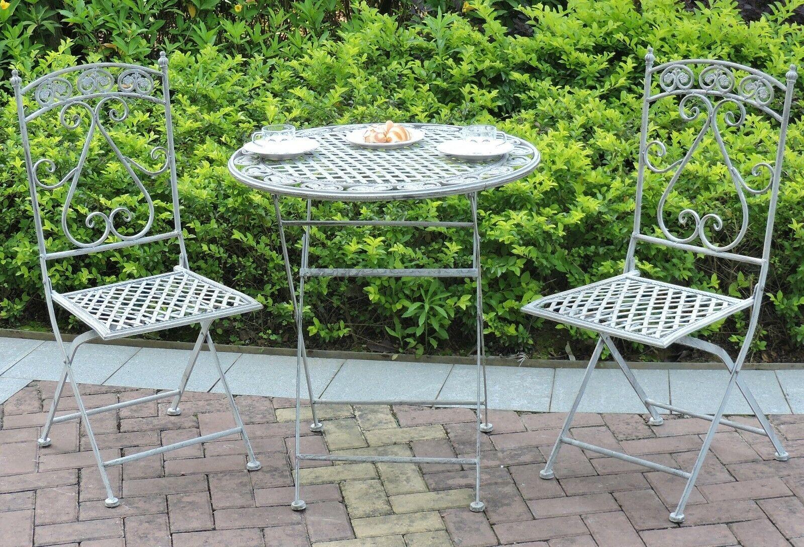 Metal Garden Bistro Set Patio Furniture Outdoor 9 Piece Table Chairs Vintage