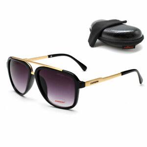 6bfce37ae5ca Men & Women's Retro Sunglasses Unisex Matte Frame Carrera Glasses + ...