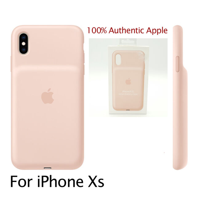 Genuine Apple Smart Battery Case for iPhone XS MVQP2LL/A - Pink - NEW OPEN BOX
