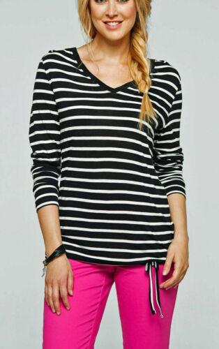 Langarm Shirt Ringelshirt Gr.36-58 gestreift in 3 Farben NEU 949199-22919-47047