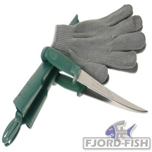 MARTTIINI  Filetiermesser 19cm Filierhandschuh Filier-Messer Lachsmesser Fisch