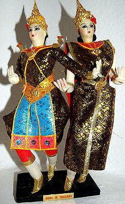 Capace Artista Bambola Da Collezione Bambola Estremità Danza Tailändisches Coppia 2 Pz N. 438-mostra Il Titolo Originale Servizio Durevole