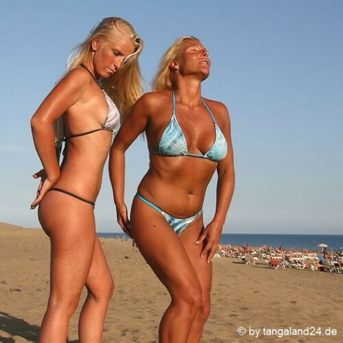 Handmade in Germany String Bikini /'SilverLines/' Blau String Tanga Bikini