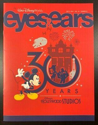 "2019 Walt Disney World /""Eyes and Ears/"" Magazine /""Hollywood Studios 30th/"""