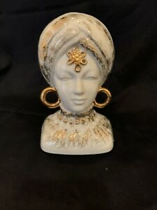 """LEFTON INDIA INDIAN HEAD VASE """"FORTUNE TELLER ***EXTREMELY RARE ****"""