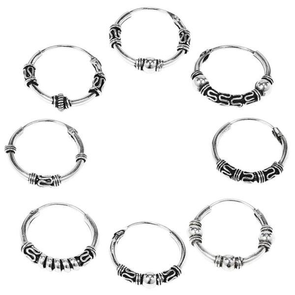 925er Sterling Silber Ohrringe 15mm Keltische Creolen Für Damen Oder Herren Larp Verbraucher Zuerst