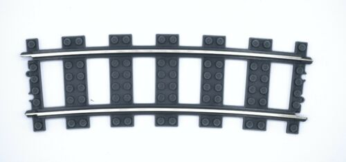 Custom 3D Printed Lego 9V Compatible //w Metal Rails Wide Radius R120 Train Track