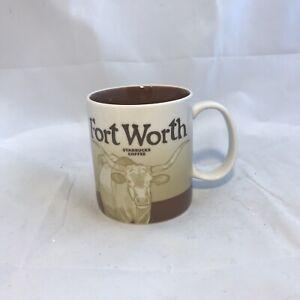 Starbucks-Fort-Worth-Longhorn-Coffee-Mug-2011-Starbucks-Coffee-Co-Used-EUC