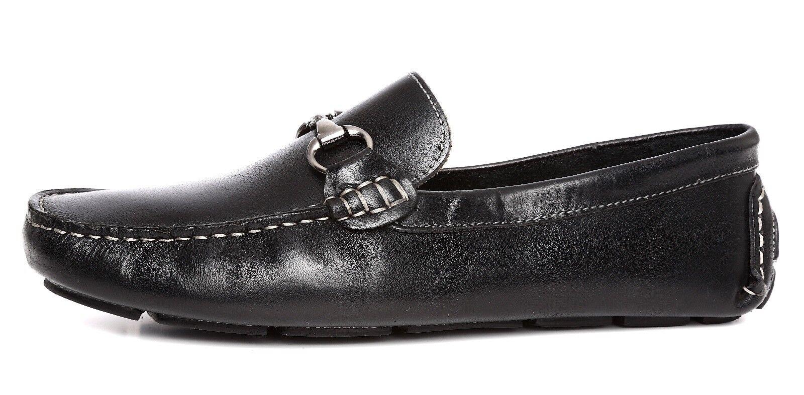 merce di alta qualità e servizio conveniente e onesto 14th & Union Lea Uomo Slip On nero nero nero Leather Bit Driver Sz 9.5M 2924  vendita online