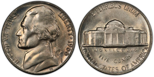 1966 Jefferson Nickel Choice Uncirculated Fabulous Quality From OBW ROLL