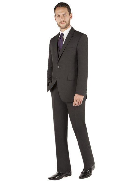 Scott & Taylor Charcoal Panama Regular Fit Two Piece Suit TD079 QQ 01