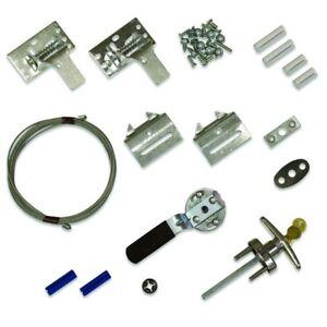 Details About Outside Inside Garage Door Lock Key Handle Set Kit S Nut Hardware Part Tool