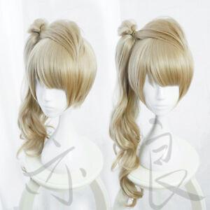 LoveLive-Minami-Kotori-Long-Curly-Linen-Flaxen-Synthetic-Hair-Cosplay-Wig-Cap