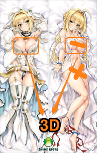 Fate Grand Order Nero Claudius 2041 Anime 3D Breasts Dakimakura body pillow case